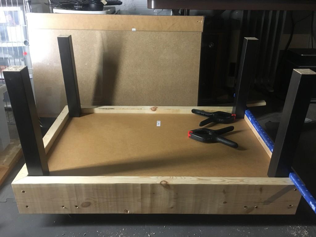 bottom frame assembly finished